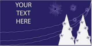 открытка рождества стилизованная Стоковые Фотографии RF