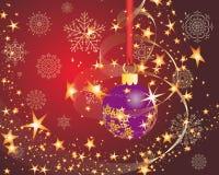 открытка рождества иллюстрация вектора