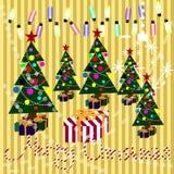 открытка рождества веселая Стоковая Фотография RF