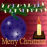 открытка рождества веселая Стоковые Фотографии RF