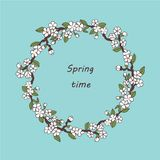 Открытка Сакуры Шаблон открытки весны вектора r r иллюстрация штока