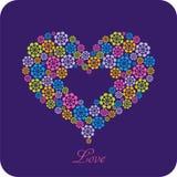 открытка сердца Стоковое Фото