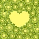 открытка сердца Стоковое Изображение RF
