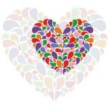 открытка сердца Стоковые Фотографии RF