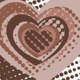 открытка сердца Стоковые Изображения RF