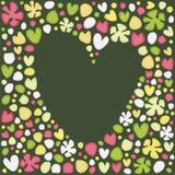 открытка сердца Стоковое Изображение