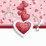 Открытка сердца дня валентинки иллюстрация штока