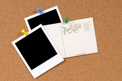 Открытка с пустыми фото Стоковые Изображения