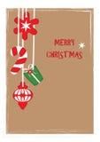 Открытка с Рождеством Христовым 2 Стоковая Фотография RF