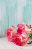 Открытка с элегантными цветками и пустое место для вашего текста Стоковые Изображения