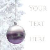 Открытка с bauble рождества Стоковые Изображения RF