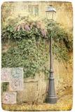 Открытка уличного фонаря Стоковая Фотография RF