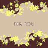 открытка цветка Стоковое Изображение RF