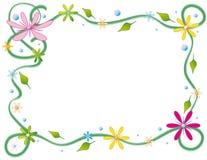 открытка цветков птиц флористическая Стоковые Фотографии RF
