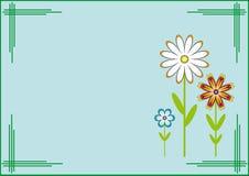 Открытка шаблона. Цветки. Стоковая Фотография RF