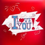 Открытка я тебя люблю! в векторе EPS 10 Стоковые Изображения