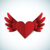 Открытка дня Валентайн вектора с сердцем Стоковые Изображения
