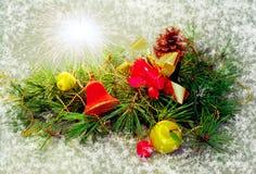 открытка christmasl веселая стоковые фотографии rf