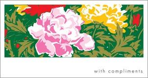 открытка peony Стоковая Фотография