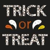 Открытка Vecor нарисованная рукой хеллоуина Стоковое Фото