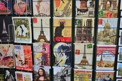 Открытки Парижа Стоковые Фотографии RF