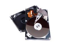Открытое жёсткого диска изолированное на белой предпосылке Стоковое фото RF