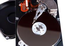 Открытое жёсткого диска изолированное на белой предпосылке Стоковые Фото