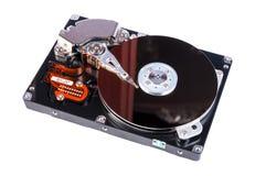 Открытое жёсткого диска изолированное на белой предпосылке Стоковые Изображения RF