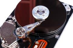 Открытое жёсткого диска изолированное на белой предпосылке Стоковое Фото