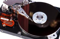 Открытое жёсткого диска изолированное на белой предпосылке Стоковые Изображения