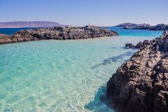Открытое море английского залива в севере Чили Стоковое Фото