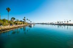 Открытое море в гавани берега океана Стоковое Фото