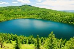 Открытое море небесного озера на горе горба верблюда Стоковое Изображение