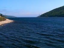 Открытое море предпосылки фото Lake Baikal в России Стоковые Фото