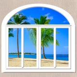 Открытое окно к морю стоковые изображения