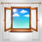 открытое окно Стоковое Изображение RF