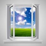 открытое окно Стоковые Изображения RF