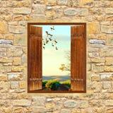 открытое окно Стоковые Изображения