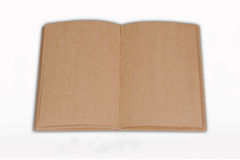Открыто рециркулируйте коричневую книгу изолированную на белом backgrou бесплатная иллюстрация