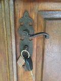 Открыттый ключом железный замок Стоковая Фотография RF