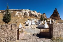 Открытые стробы мусульманского кладбища Стоковое Изображение