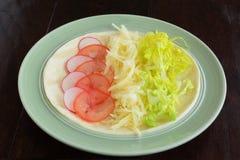 Открытые сыр стороны и обруч veggie Стоковые Изображения