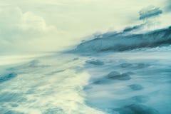 Открытый всем ветрам берег Стоковые Фотографии RF
