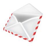 Открытый изолированный взгляд перспективы объекта конверта Стоковые Изображения RF