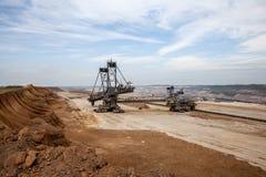 Открытый карьер бурого угля inden и энергетическая промышленность Германии экскаватора Стоковая Фотография RF