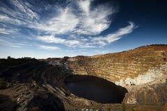 открытый карьер медной шахты Стоковое Изображение