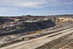 открытый карьер добычи угля Стоковые Фотографии RF