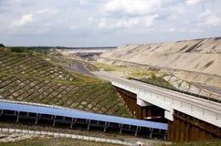 открытый карьер угольной шахты Стоковые Фотографии RF