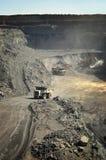 открытый карьер угольной шахты стоковая фотография