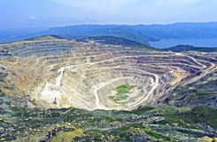 открытый карьер шахты Стоковые Фото